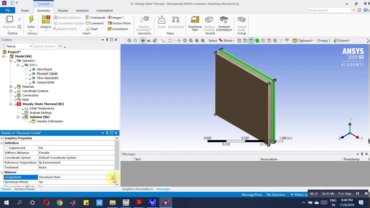 Analysis of the Composite interior wall subjected to ...