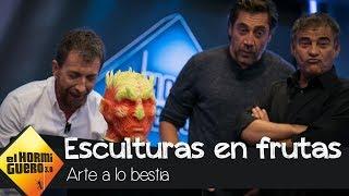 Javier Bardem y Eduard Fernández alucinan con las esculturas de comida - El Hormiguero 3.0