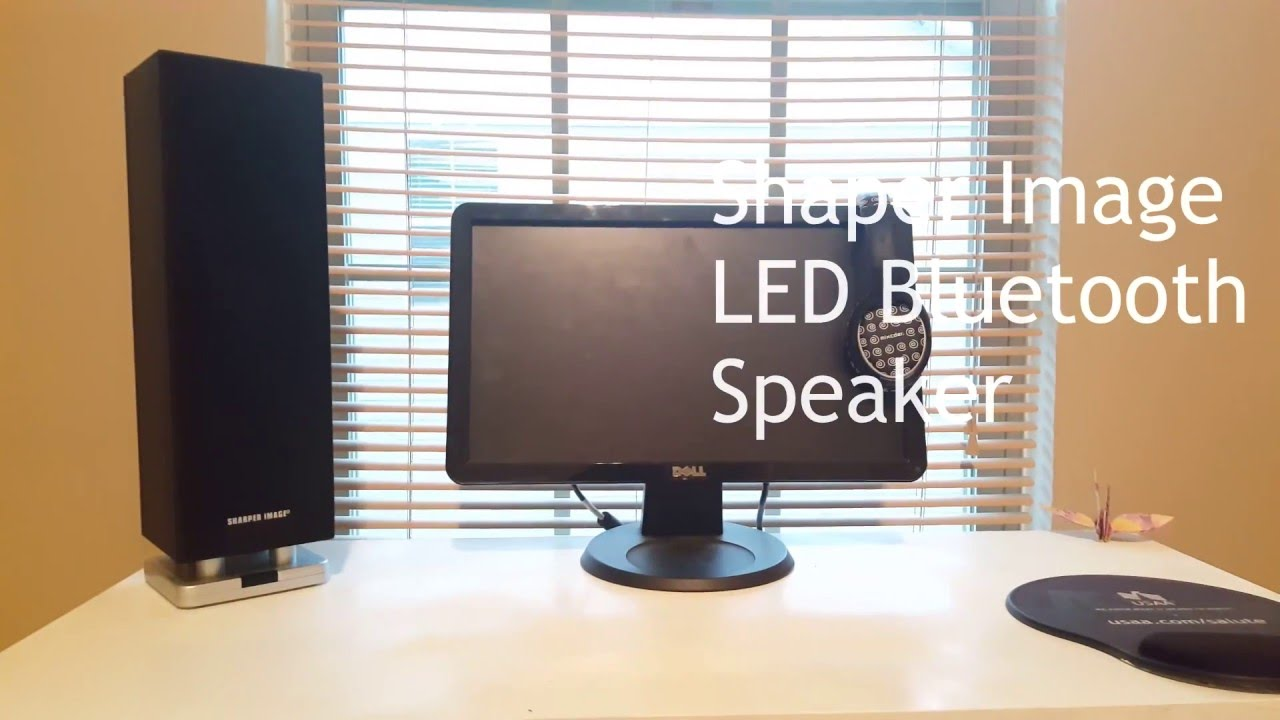 Sharper Image Led Micro Tower Bluetooth Speaker Review Best Bass