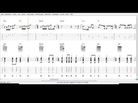 Elton John -  Your Song -Tabs