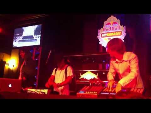 AraabMuzik, Jeremy Ellis, and Party Supplies live improv at Red Bull MPEmbassy Event 11/16/2011