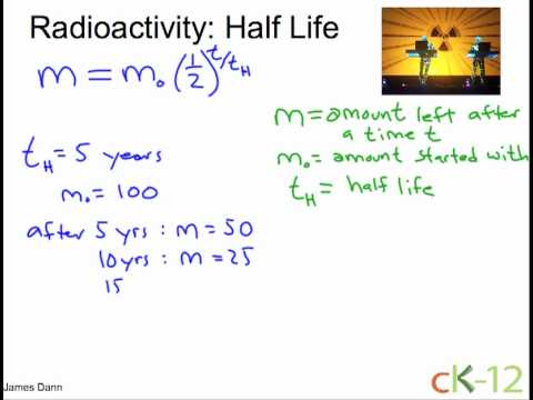 Formula for carbon dating half life