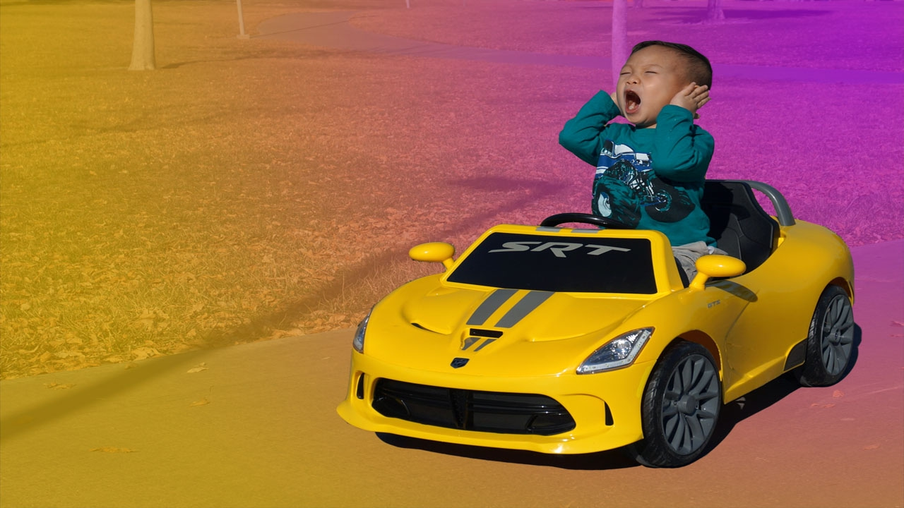 Toddler Unbox Assemble Power Wheels 6v Yellow Dodge Viper Srt