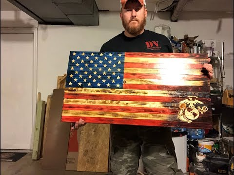 How I Make A Wood American Flag, Flag Wall Hanging, Wood US Flag