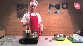 On-line урок | Суп-пюре из тыквы с сухариками, самосы со шпинатом и сыром.