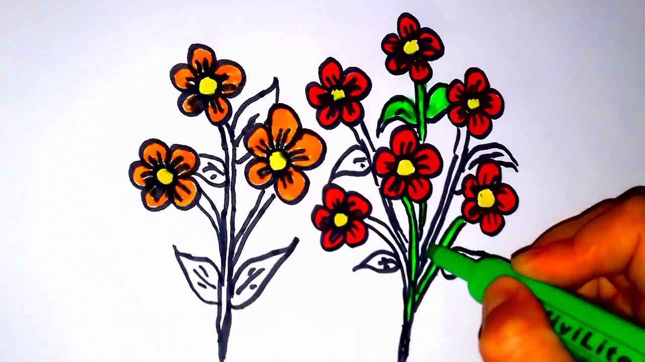 çiçek Demeti çizme Youtube
