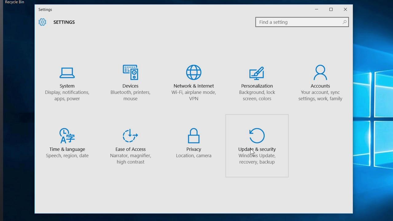 Windows 10 - Accessing the UEFI BIOS Setup
