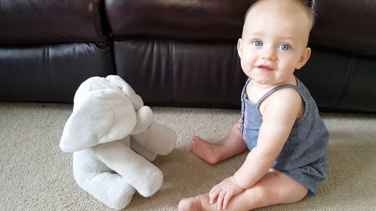 New Peek-a-Boo Animated Talking and Singing Elephant