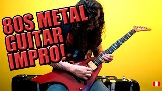 Charlie Parra 80s Metal Guitar Improvisation