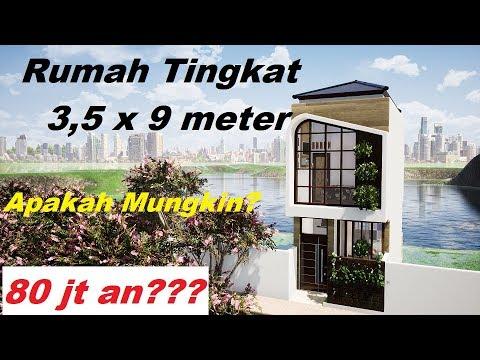 ep 34 desain rumah minimalis 3,5x9 meter desain rumah