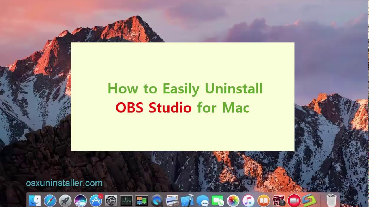 Hassle-Free Ways to Uninstall OBS Studio for Mac