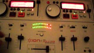 DEMO ION iCD02K DIGITAL DJ STATION W/ KARAOKE VOCAL CANCEL 3-CHANNEL MIXER