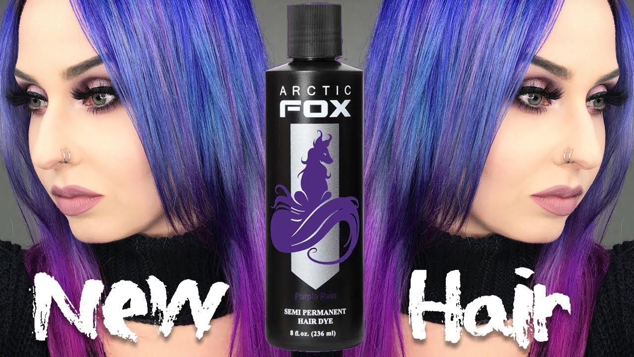Galaxy Ombre Hair Avec Arctic Fox Youtube
