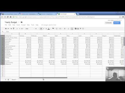 Making a yearly budget with Google Spreadsheet