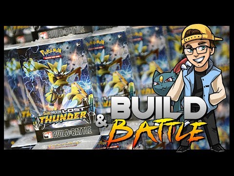Lost Thunder Pokemon Build and Battle Prerelease Gameplay