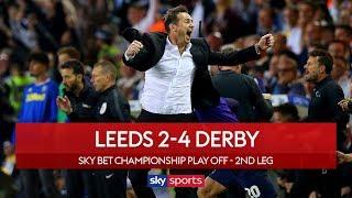 Derby stun Leeds   Leeds 2-4 Derby   Highlights   Championship Play-Off Semi-Final