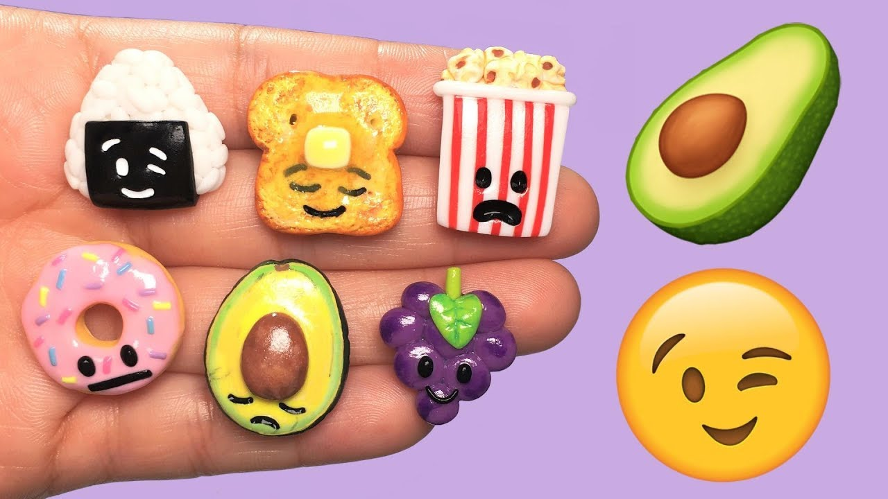 EMOJI SNACKS! Polymer Clay Tutorial