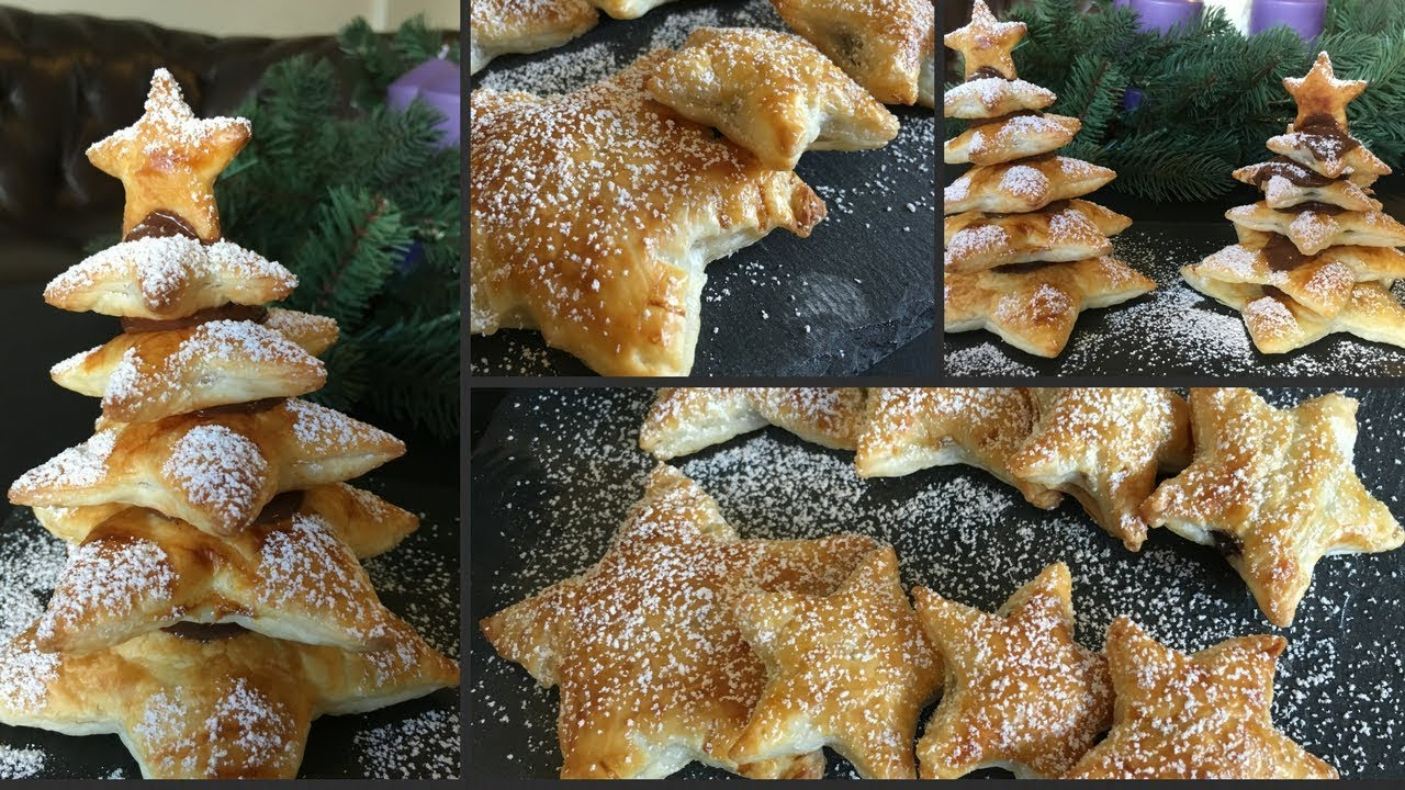 Nutella Christmas Tree.Puff Pastry Christmas Tree And Nutella Stars