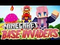 Animal Tower! | Minecraft Base Invaders Challenge