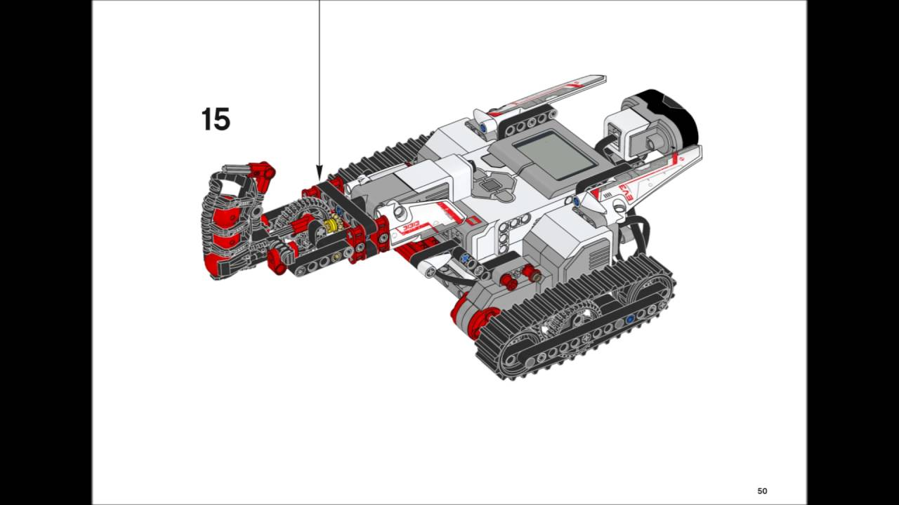 Lego Mindstorms Ev3 31313 Track3r Building Instructions Youtube