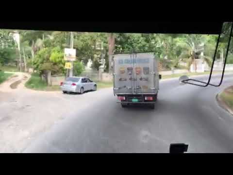 Jamaica Knotsford bus ride fro MoBay Airport to Gutters Manchester April 2018