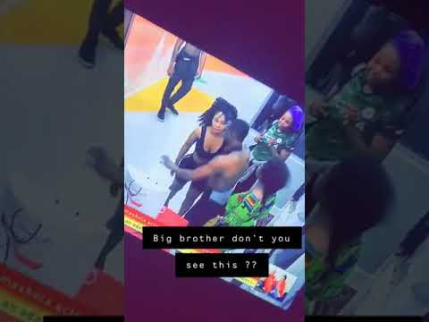 Download Bbnaija.Tacha and mercy gets physical. Tacha disqualified?