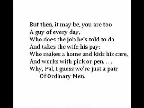 """""""The Ordinary Man,"""" by Robert W. Service"""