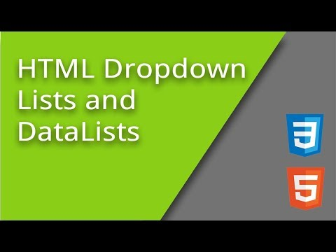 HTML Dropdown Lists And DataLists