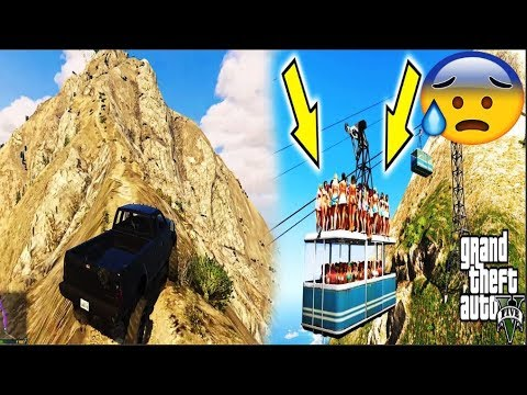 Most Dangerous Road In Gta V Adventurous Ropeway Trip Gta V Cable Car Ride Hd Pfree To Use