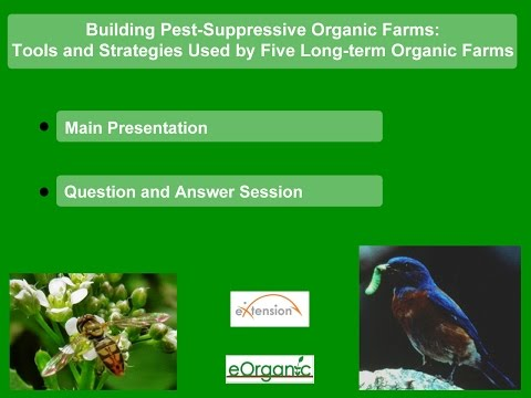 Building Pest-Suppressive Organic Farms: Tools and Strategies