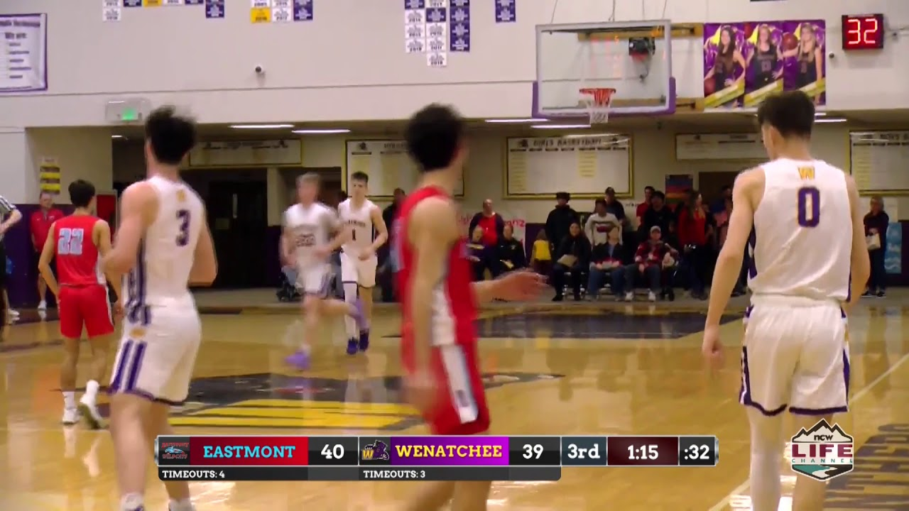 Eastmont vs Wenatchee Boys Basketball Highlights 2020-02-01