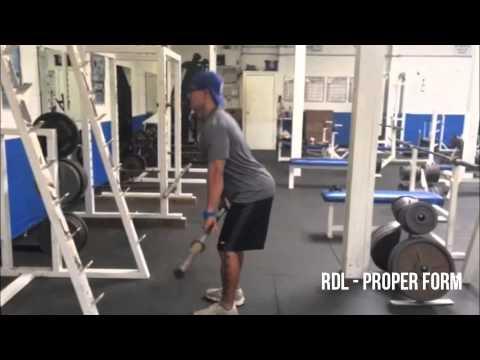 RDL Proper Form - YouTube