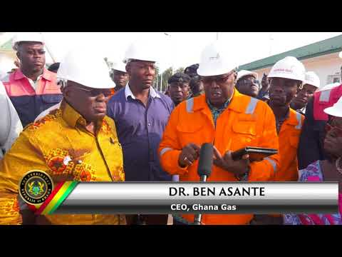 President Akufo-Addo at the Ghana Gas Plant in Atuabo