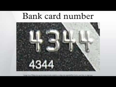 Bank card number