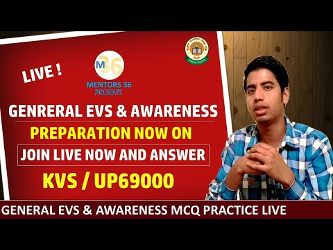 Live General EVS & Awareness MCQ Practice Fr KVS & UP69000