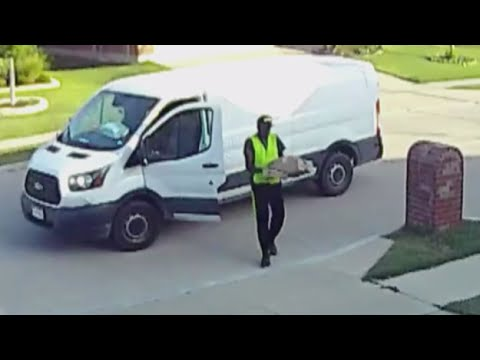 Amazon Delivery Driver Caught Tossing Packages - YouTube