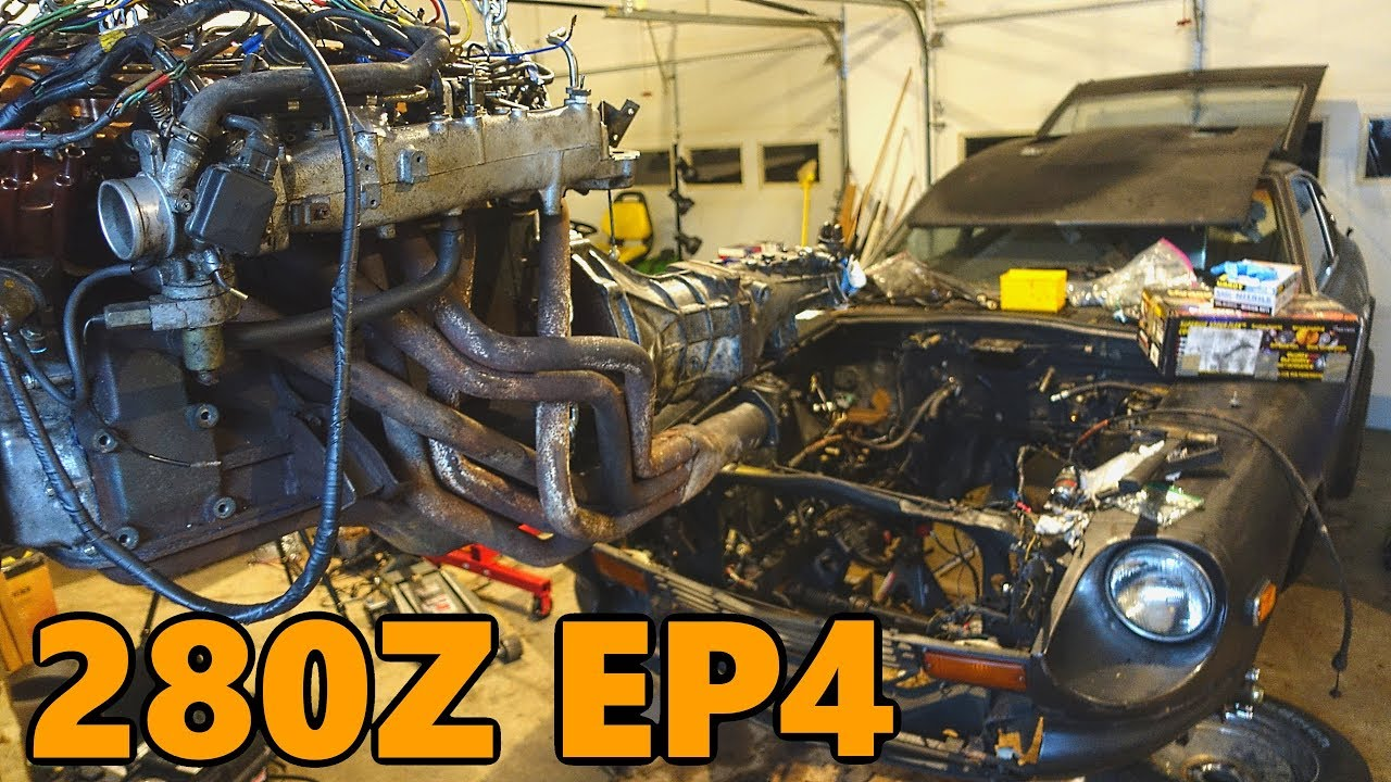 Datsun 280z New Engine Install  Ep 4