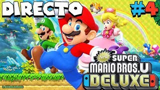 New Super Mario Bros U Deluxe - Directo #4 Español - Final del Juego - Ending - Nintendo Switch