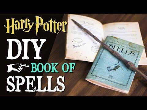 DIY Harry Potter Spellbook - Pocket Book Of Spells