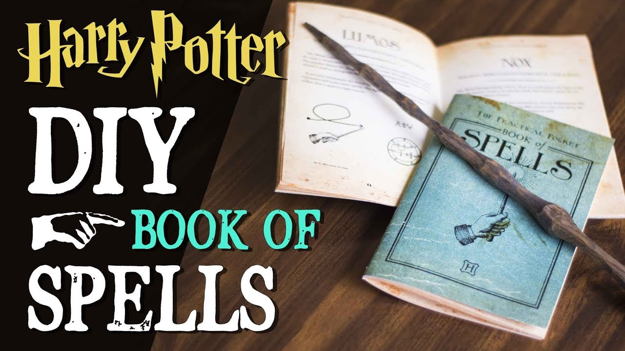 photo relating to Harry Potter Spell Book Printable known as Do-it-yourself Harry Potter Spellbook - Pocket E-book of Spells