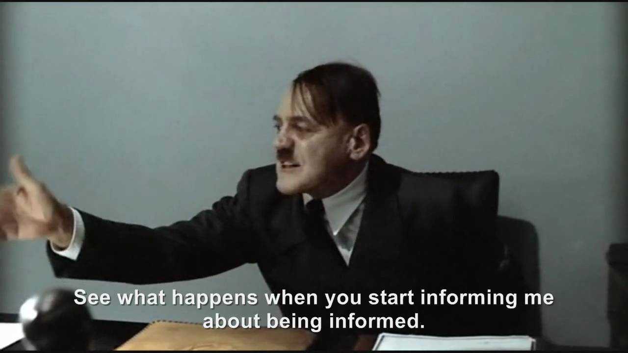 Hitler is informed he is being informed about himself being informed