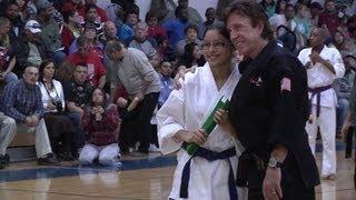 Chuck Norris - KICKSTART Belt Ceremony at Davila Middle School - 2012