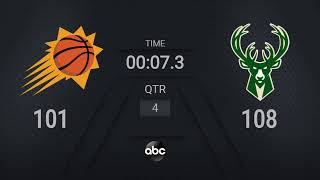 Suns @ Bucks Game 4 | #NBAFinals on ABC Live Scoreboard