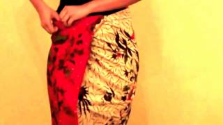 Wearing Batik Sarong indonesia II Cara memakai sarung batik Indonesia