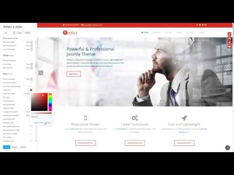 Customizer - Perfect Joomla Theme