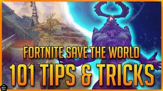 FORTNITE STW: 101 TIPS & TRICKS : THE ULTIMATE FORTNITE SAVE THE WORLD BEGINNERS GUIDE!