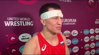 Жесть! Лицо борца Романа Власова после победы на чемпионате Европы.