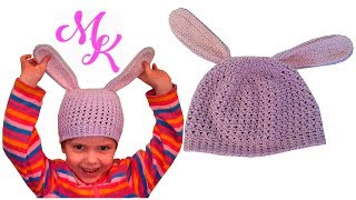 Весенняя детская  шапка