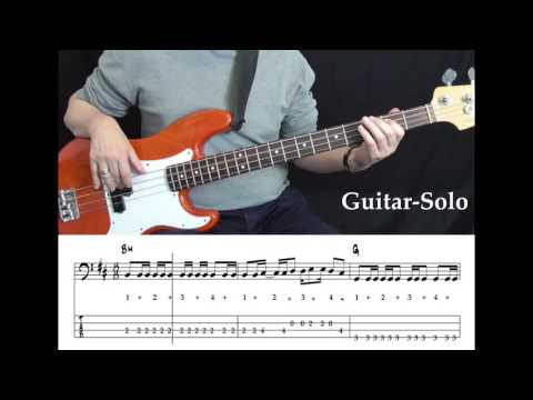 Goo Goo Dolls - Iris (Bass cover with tabs in video)